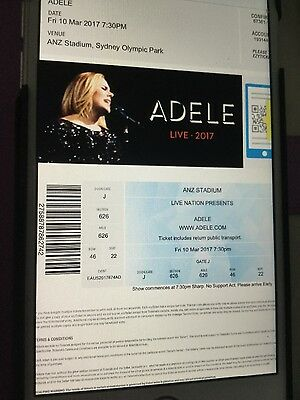 Adele Tickets - Sydney 10 March