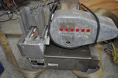 Hollymatic Super Model 54 Portioning Machine, Conveyor, and Wrapper with Cart