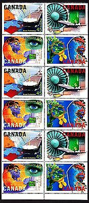 Canada MNH 1996 booklet pane of 12 sc#1598a High Technology, free shipping