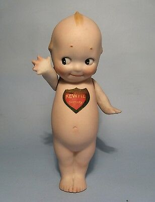 "1920's All-Bisque 5"" KEWPIE Signed O'Neill w/Shield Label German Doll/Figure"
