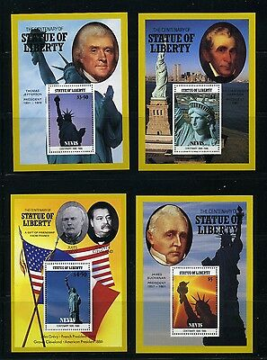 NEVIS   MNH   517-20    Statue of Liberty S/S     DR374