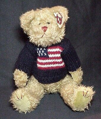 1993 Grant Beanie Attic Treasures Bear Ty China Plush With Tags