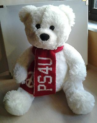 17 Inch Aeropostale PS4U White Soft Bear with Red Scarf