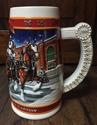"Really Nice Collectible 1999 ""Budweiser"" Holiday Stein  EUC"
