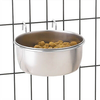 Hanging Cage Bowl, USA Seller, Coop Cup, Dog Dish Crate Stainless Steel Pet Bird