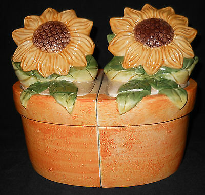 Susan Winget 4pc Canister Set - Sunflowers - Certified International Corp.