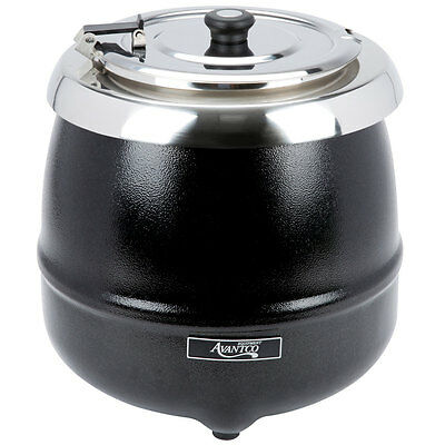 Avantco 11 Qt Black Electric Soup Kettle Warmer Food Countertop Kitchen