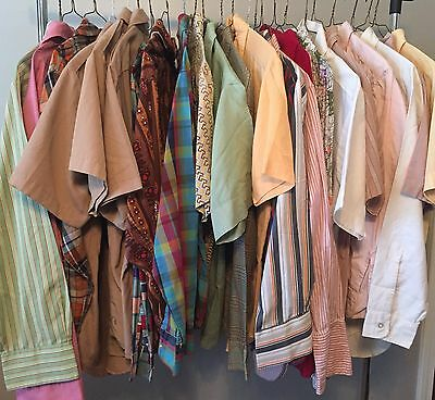 Lot Of 24 Vintage Authentic 60's/70's Men's Shirts Need Repairs #81