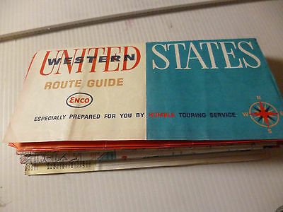 Enco Humble Oil United States Western 1963 Vintage Map
