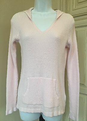 Oh Baby! By Motherhood Light Pink V-Neck Long Sleeve Cotton Hoodie ~ Size Small
