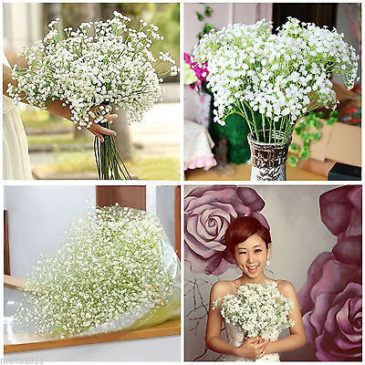 200 Head Romantic Baby's Breath Gypsophila Silk Flower Party Wedding Home Décor