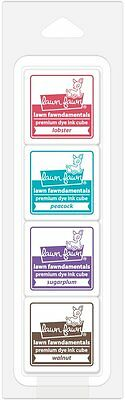 **NEW** LAWN FAWN Candy Store Ink Cube Set Premium Dye Ink Pad (4pcs)
