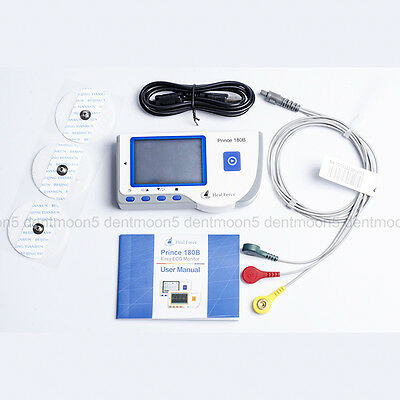To-LCD Portable ECG Machine EKG Heart Rate Monitor Electrocardiograph+ecg cable