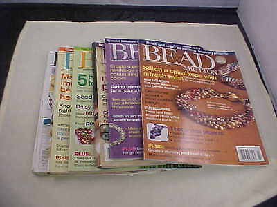 Bead and Button Magazine Back Issues 2007 Six Total Issues Great Projects Used