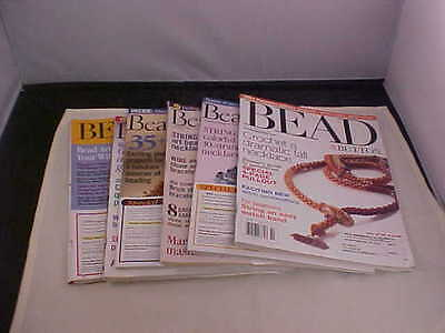 Bead and Button Magazine Back Issues 2004 Six Total Issues Great Projects Used