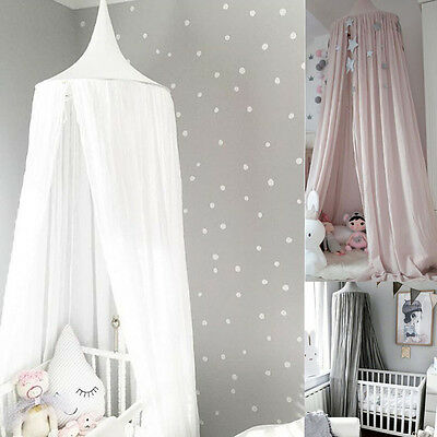 Kids Baby Bedding Round Dome Bed Canopy Netting Bedcover Mosquito Net Curtain