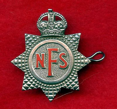 WW2 Great Britain National Fire Service Cap Badge