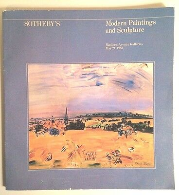 Sotheby's Modern Paintings and Sculpture Auction Catalog May 21, 1981