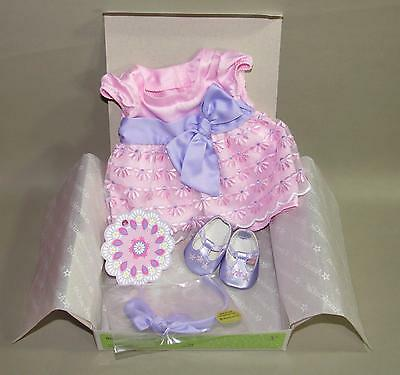 American Girl Bitty Baby Twins Blossoms & Bows Easter Spring Outfit 4 Dolls Nip