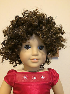 "Doll Wig 10-11"" - Style Curly - Frosted Reddish Brown"