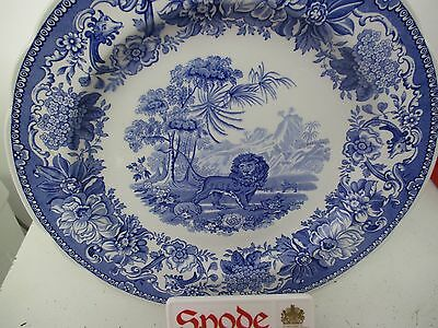 Spode Plate In Blue,  Aesop's Fables