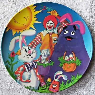 "Set of 4 new different Ronald McDonald 9 1/2"" Plastic Collector Plates"