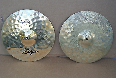 "ZILDJIAN A SERIES 13"" POCKET HI HAT CYMBALS or HATS! LOT #C28"
