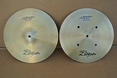 "AVEDIS ZILDJIAN & CO. 13"" QUICKBEAT HI HAT CYMBALS or HATS! LOT #C355"