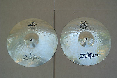 "ZILDJIAN & CO. 14"" Z CUSTOM MASTERSOUND HI HAT CYMBALS or HATS! LOT #C329"