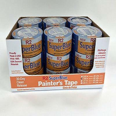 "Blue Painters Masking Trim Edge Tape, Wrap 2"" x 60 Yds 1 Roll Small Pack"