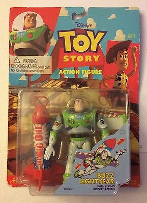 Think Way Disney's Toy Story Buzz Lightyear Action Figure Mip 1995