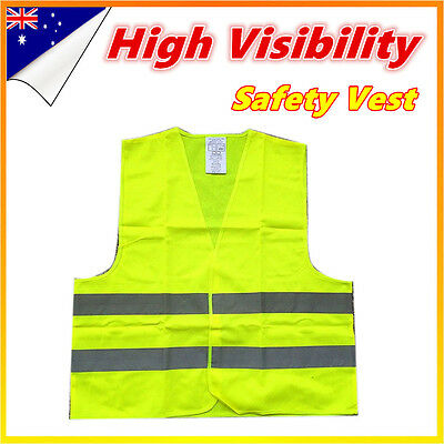 Yellow Safety Vest hi vis workwear Reflective Tape Work Jacket High Visibility