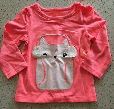 Gymboree Girls Winter Themed Long Sleeve Shirt Size 12-18 Months NWT