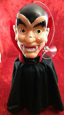 Vtg Dracula,halloween Hand Puppet, Suction Cup Ornament,mexican Ko Bootleg Toy