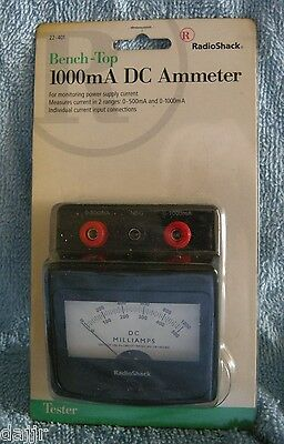 NEW RadioShack 22-401 Bench-Top 1000mA DC Ammeter
