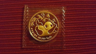 1985 25 Yuan China Panda 1/4 oz. .999 Gold Coin Bullion Sealed BU