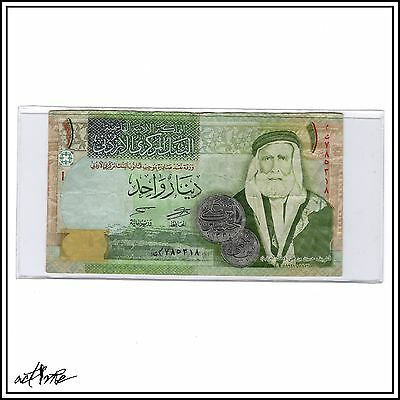Jordan One Dinar (1 JOD) Jordanian World Currency, Hijaz Camels Design Banknote