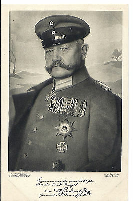 Deutsches Kaiserreich, Great War: Motiv-Postkarte mit Hindenburg (ca. 1914)