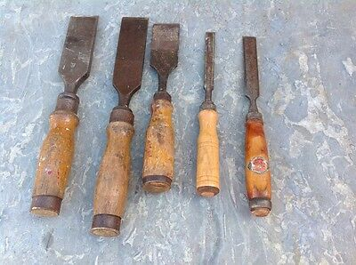 vintage carpenter tool chisels