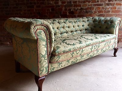 Stunning Antique Chesterfield Sofa Settee Victorian 19th Century Button-Back