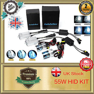 55W Xenon HID 9006 HB4 9012 HIR2 Headlight Replacement Conversion KIT All Colors