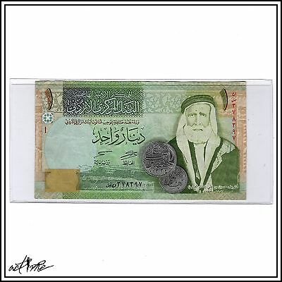 Jordanian One Dinar (1 JOD). Jordan, Middle East, World Currency Banknote Money