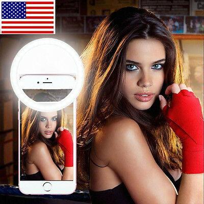 Portable LED Ring Luminous Fill Light Camera Photography For iPhone Mobile Phone