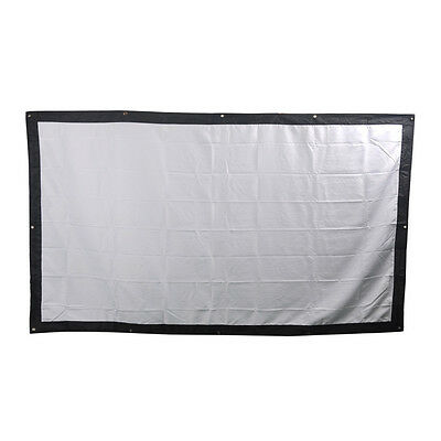 100 Inches 16:9Canvas Portable Folding Fabric Projection Screen for Home Theater