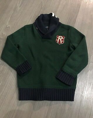 Boys Children's Ralph Lauren Polo Sweater Top Patchwork Rugby