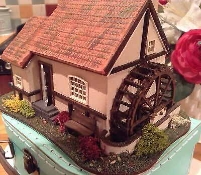 1/48, miniature, water mill, cottage, dolls house