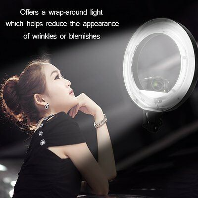"""2x 18"""" 5500K Continuous Camera Photo Video Dimmable Fluorescent Flash Ring Light"""