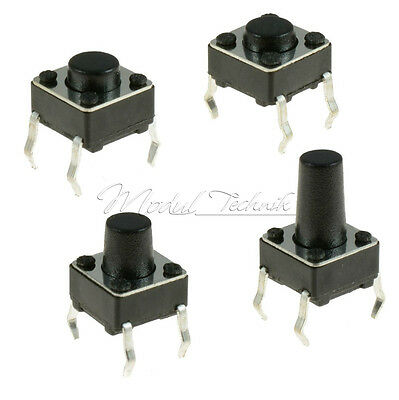 100PCS 6x6 3.1mm-13mm SPST Mini Micro Momentary Tactile Push PCB Button Switch