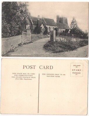 BRADFIELD CHURCH nr Reading, Berkshire c1907