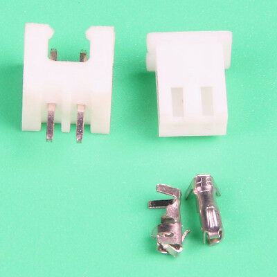JST PH 2.0MM 2-Pin Connector plug Male and Female with Crimps 50 Sets